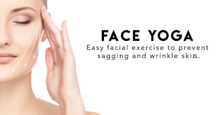 Face Yoga art work to prevent sagging wrinkle skin