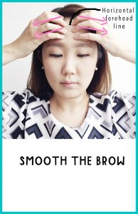 Face Yoga Smooth The brow