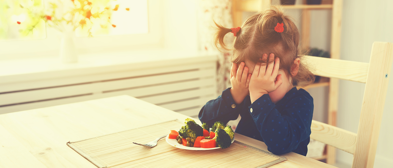 Child refuse to eat vegetables unhappy