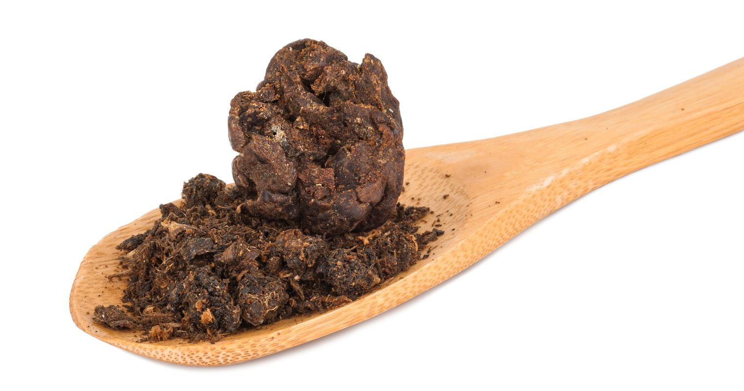 propolis on a wooden spoon