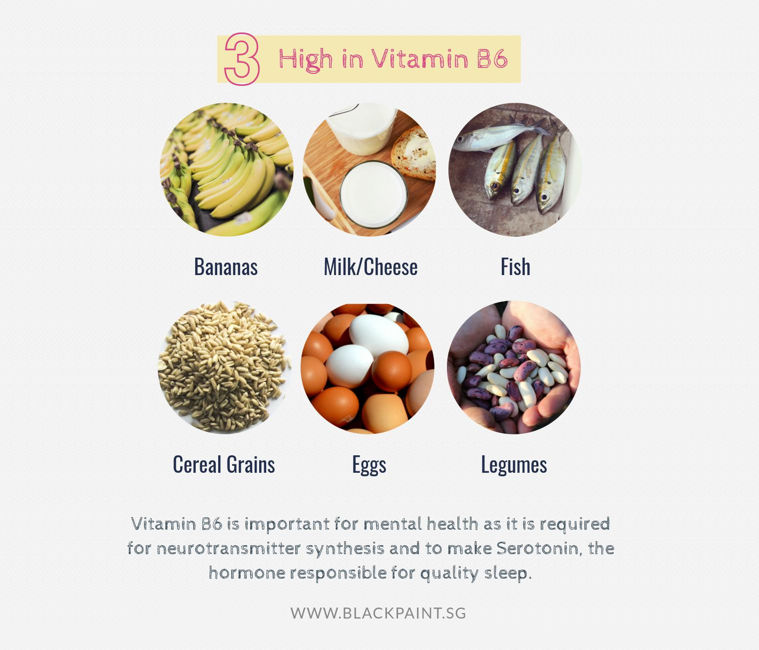 choose foods that are high in vitamin B6
