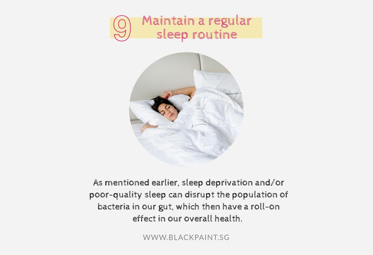 maintain a regular sleep routine