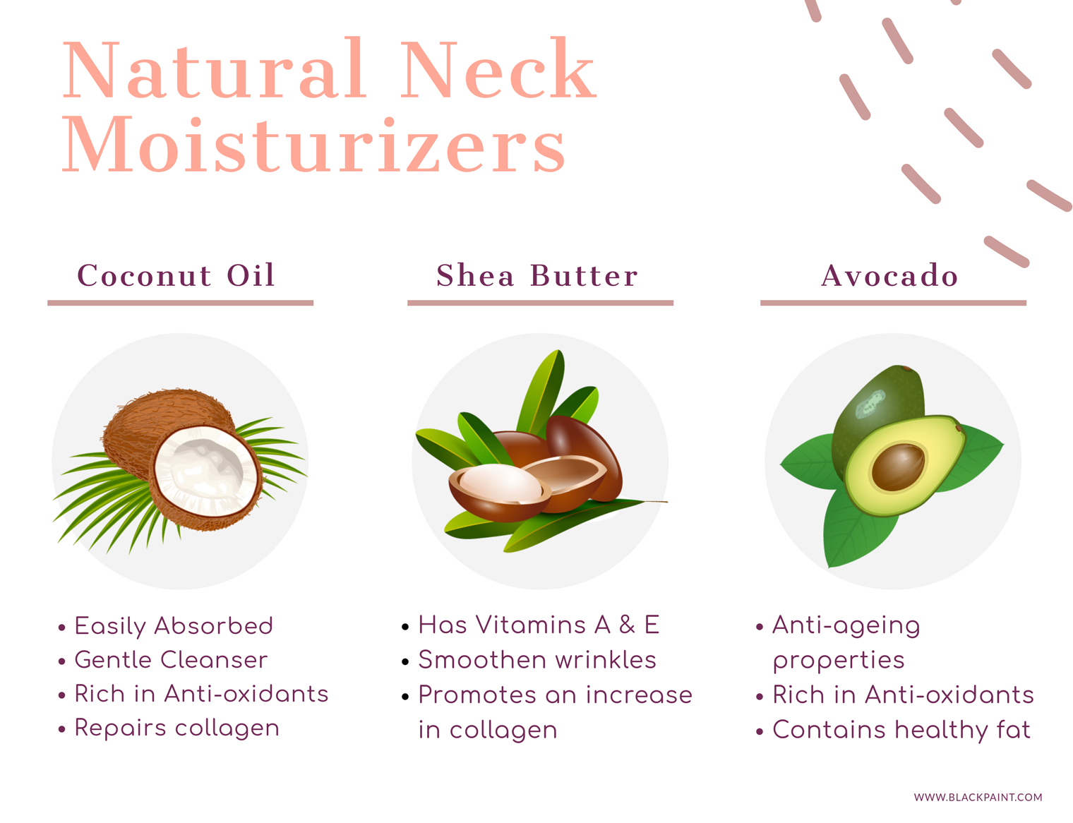 natural and nourishing moisturizing ingredients to prevent neck wrinkles