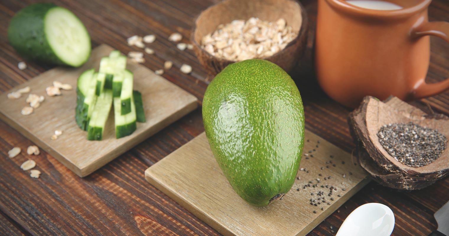Anti-aging foods include avocado, cucumber, and oats - helps you have smoother skin.