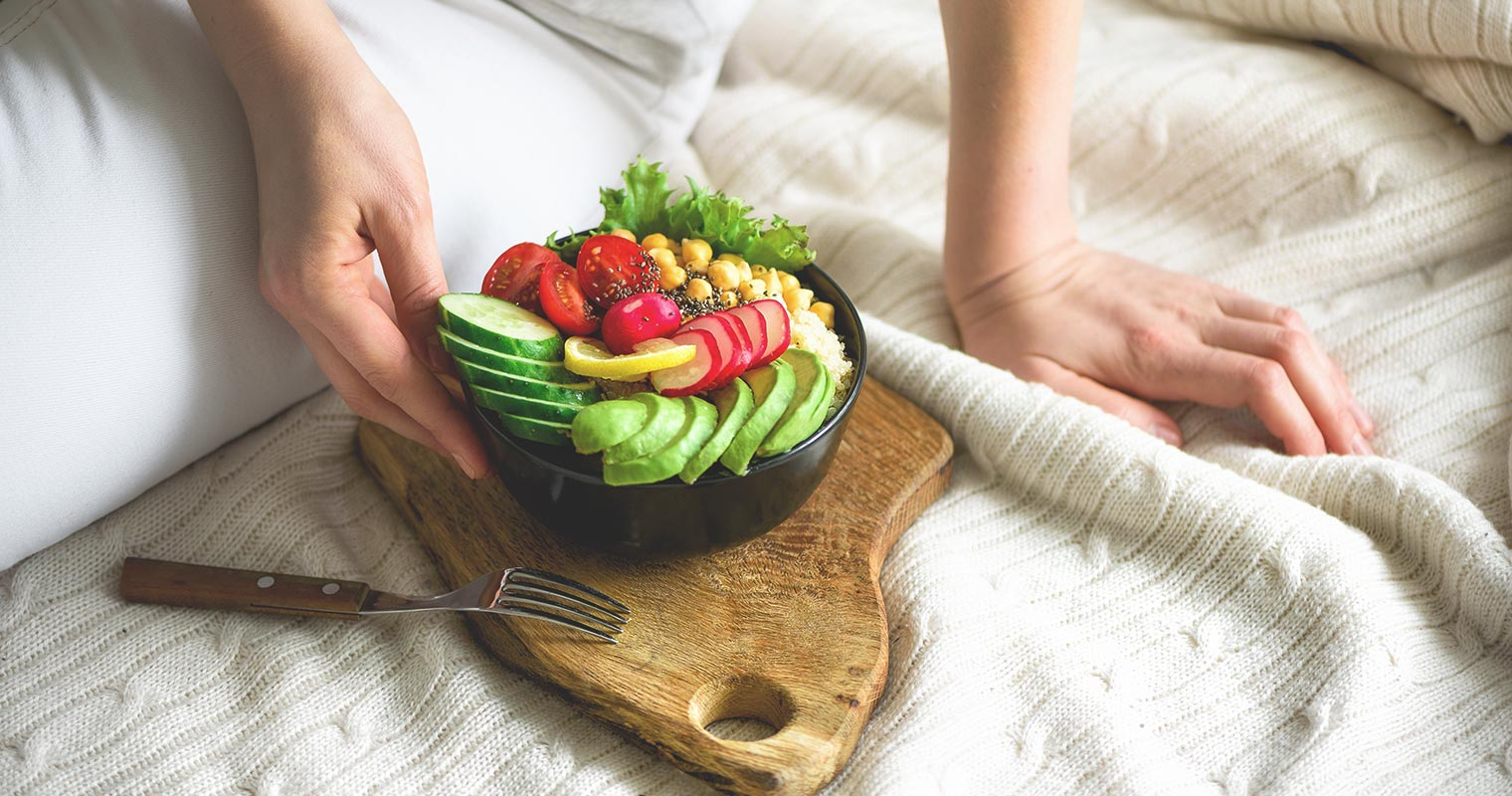 healthy bowl of vegetable salad