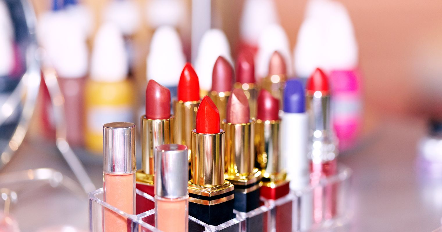 large amount of chemical is needed to make various colours in lipsticks