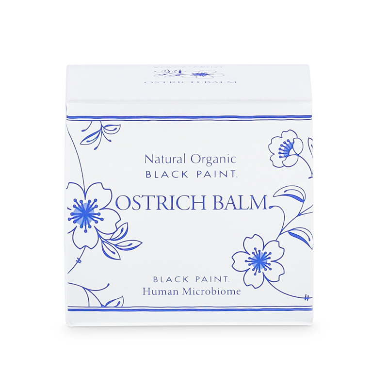 OSTRICH BALM with Human Microbiome 25g (box front)