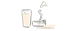 illustration of a glass of beer and a lighted cigarette