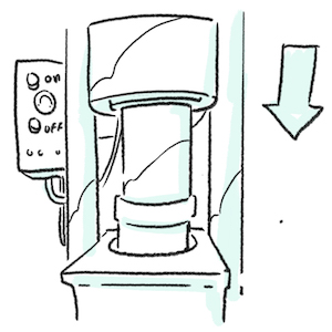 illustration of Almond oil extraction through pressure