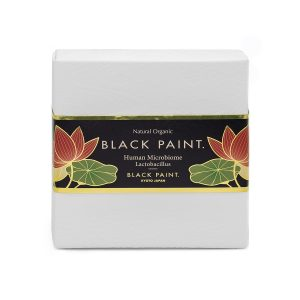 Black Paint Soap 120g with Human Microbiome - front