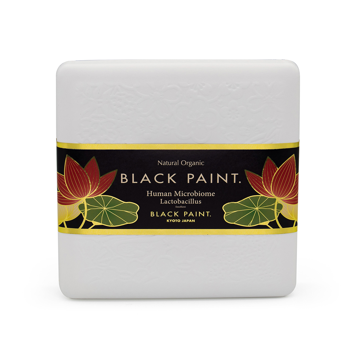 Black Paint Soap 60g with Human Microbiome - front