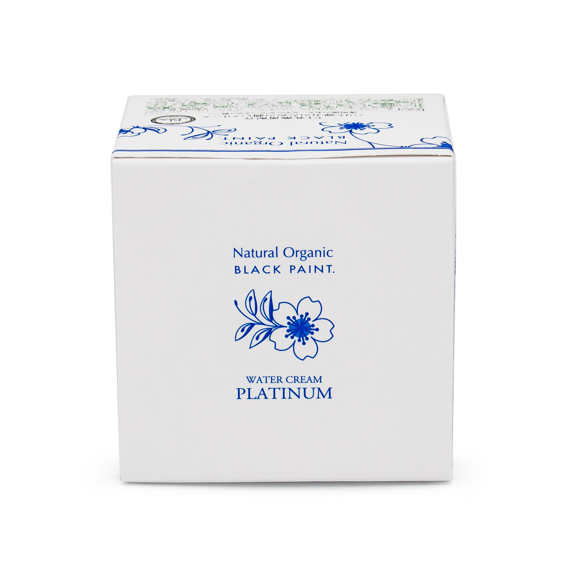 Water Cream Platinum 100g with Human Microbiome - box top