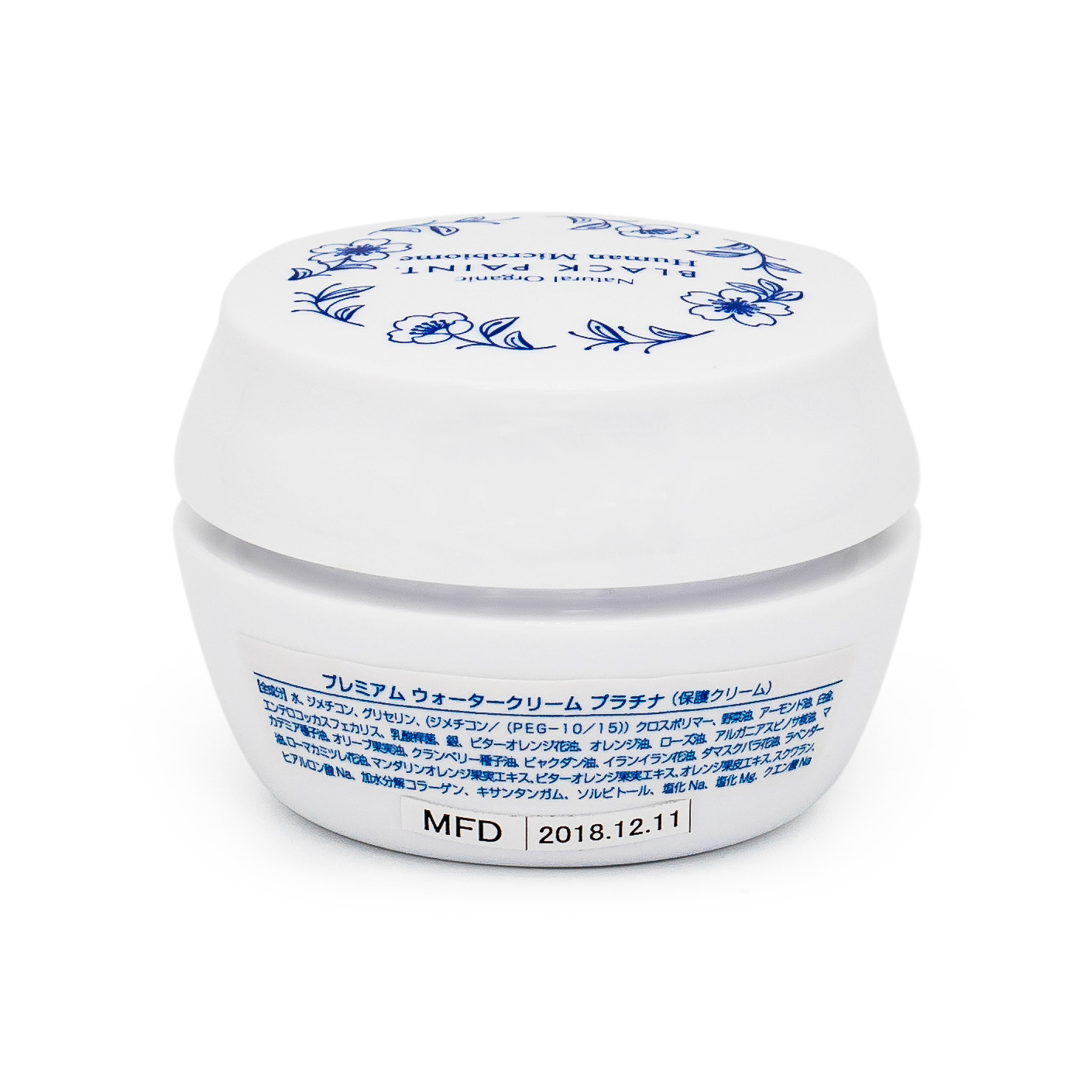 Water Cream Platinum 25g with Human Microbiome - back
