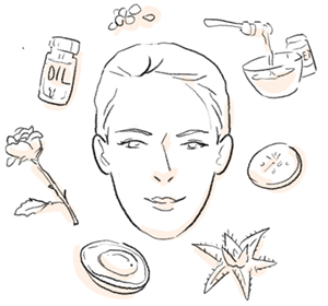 illustration of adding natural ingredients to my skincare