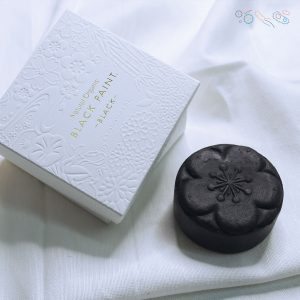 BLACK PAINT Soap with box on silk cloth