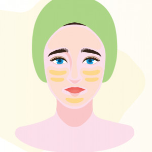 illustration of woman with nourished skin