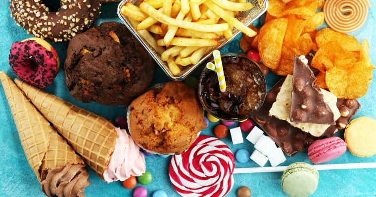 junk fried oily unhealthy food and snacks