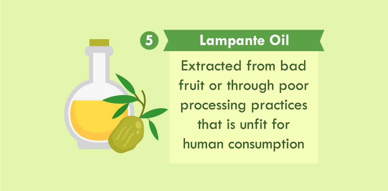 illustration of lampante oil